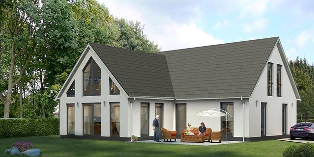 nowoczesny dom na wąską działkę
